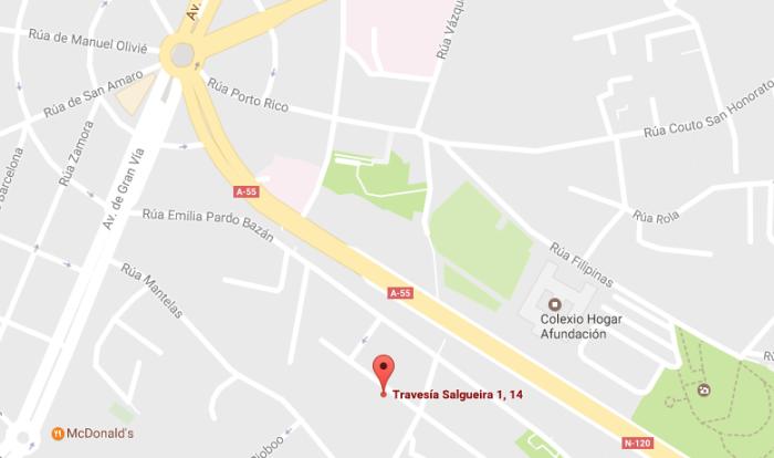 mapa Autos Pena Vigo